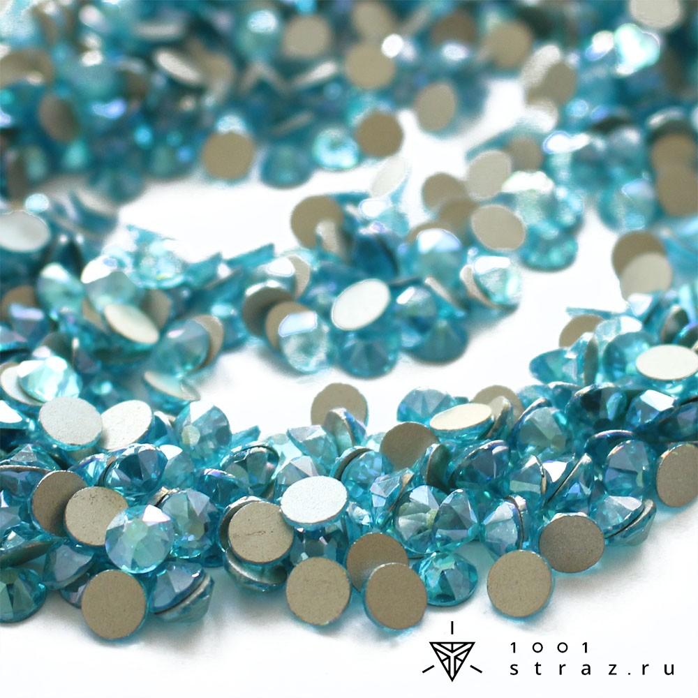 клеевые стразы aquamarine